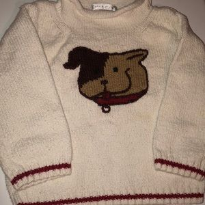 Adorable Janie and Jack 🐶 puppy sweater 18-24 mo.